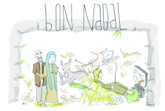 Jesús adolescent (Postal de Nadal)